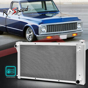 3-Row Core Aluminum Radiator for 67-72 Chevy C/K Series C10/C20/K10/K20 Pickup