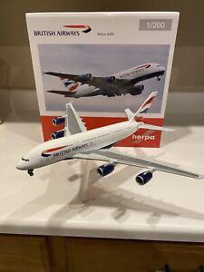 HERPA BRITISH AIRWAYS AIRBUS A380   1/200 HE556040