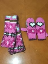 Girls Kids Sonoma Life + Style Pink Mittens Gloves Size Small S 5/6