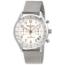 William L 1985 Vintage Chronograph White Dial Mens Watch WLAC01BCORMM