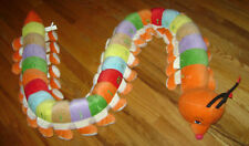 "Giant 80"" Long Plush Centipede Caterpillar Abc Alphabet Preschool Learning Toy"