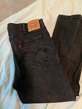 Levis 514 Men's 40x30 Black Jeans