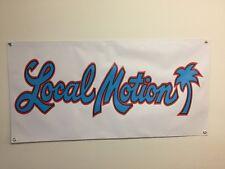 old school surfing local motion 2x4 banner garage mancave shop