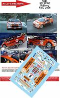 DECALS 1/24 REF 1043 PEUGEOT 307 WRC SOLBERG RALLYE MONTE CARLO 2006 RALLY