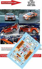 DECALS 1/18 REF 1043 PEUGEOT 307 WRC SOLBERG RALLYE MONTE CARLO 2006 RALLY