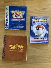 pokemon game boy trading regole trainer's book