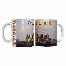 Dallas texas skyline café taza de café Taza, estados unidos souvenir taza, Coffee Mug