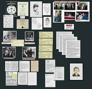 Bob Clarke (MAD) Archive of Letters, Photos, Acct Ledger, Drawings, Royalty Stmt