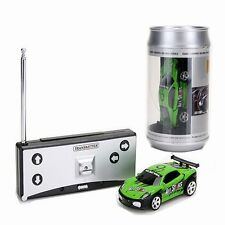 W6 Mini RC Remote Controlled Car Racing Car Toys in the beverage can 1:58 Green