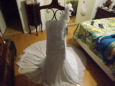 Mermaid Chiffon Wedding Dress - $99 (Hemet, Riverside)
