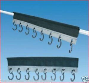 Fabric Awning Pole 8 Hook Organiser - Awning Coat Hook  -  Caravan / Motorhome