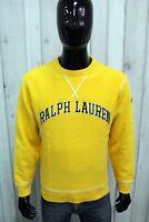 RALPH LAUREN Uomo Taglia M Felpa Giallo Maglione Sweater Sweatshirt Maglia Man