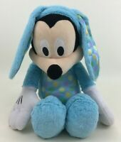 "Mickey Mouse in Blue Easter Bunny Costume 15"" Plush Stuffed Toy Disney"