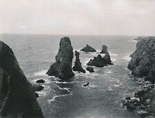 BELLE-ÎLE-EN-MER c. 1938 - 3 Photos Bords de Mer Rochers  Morbihan - L 163