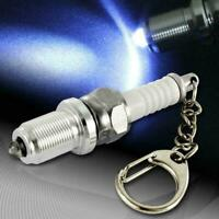 Multifunctional LED Car Ignition Aluminum Alloy Spark Plug Keychain Keyring J4S1