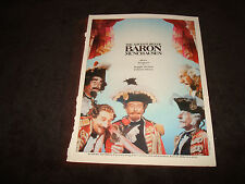 ADVENTURES OF BARON MUNCHAUSEN 1988 Oscar ad Best Makeup, Eric Idle, Oliver Reed