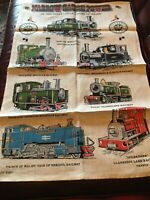 VNTAGE COLLECTIBLE RAILWAYANA GREAT LITTLE TRAINS OF WALES PURE LINEN TEA TOWEL
