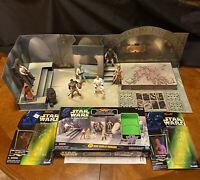 1998 Star Wars Lot - 3-D JABBA'S PALACE  + 8 POTF Action Figures