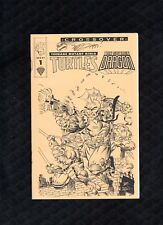 Savage Dragon & TMNT Ashcan Aug 1993, Mirage Crossover  Signed/Art By Dooney A4