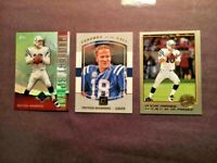Peyton Manning Colts LOT 3-FOOTBALL CARDS-MINT-FREE SHIPPING
