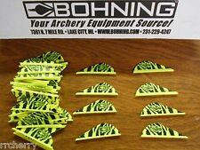 "Bohning 2"" Blazer Vanes, 36 Pk. Neon Yellow & Black Zebra Tiger Stripes"