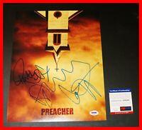 🔥 Dominic Cooper Ruth Negga Signed Preacher Cast 11X14 Poster PSA JSA BAS 🔥