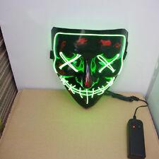 2018 NEW PVC LED Mask Rave EL Luminous Flashing Face Light Up Dance Party