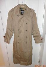 womens tan rain coat  by Fox Run size R/11/12