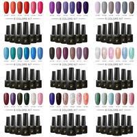 6Bottles/Set MTSSII 6ml UV Gel Nail Polish Soak Off Nail Art Varnish Manicure