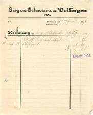 alte Rechnung, Dettingen (Horb) EUGEN Schwarz, Küfer 1928 #E748