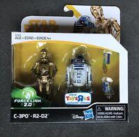 Star Wars *C-3PO & R2-D2* Toys R Us EXCLUSIVE Force Link 2.0 SOLO Line Figures!