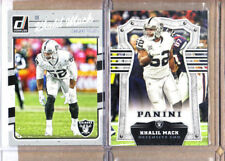 Khalil Mack-2 Card Lot-2017 Panini+2016 Donruss-Raiders-Bears-NM-MT