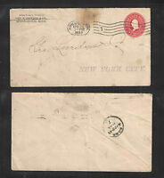 1899 GEO R NEWELL & CO MINNEAPOLIS MINN US STAMPED ENVELOPE ADVERTISING COVER