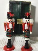 Christmas Nutcrackers Bombay Company Holiday Candle Holders Scotland Highlander