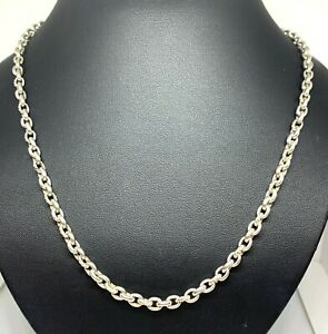 "David Yurman 'Cable' Small Oval Link 20"" Sterling Silver Necklace"