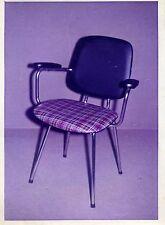 Werbe-Foto Möbel Stuhl kariert 1950er Tromlitz-Sitzmöbel Hannover Einrichtung