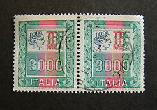1978-1979  ITALIA  ALTI VALORI  Coppia 3000 lire  usati