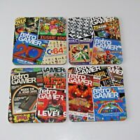 4 x Retro Commodore 64 Coasters  ATARI   Rainbow Islands Man Cave Video Games