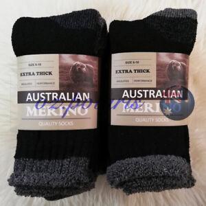 SIZE 6-10 HEAVY DUTY AUSTRALIAN MERINO EXTRA THICK WOOL WORK SOCKS