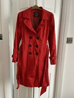 Red Trench Coat By Steps Size 14 Or 12