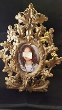 """Victorian c1890 table-top picture Frame gold Brass 14"""""""