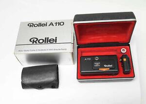 Rollei A 110 Miniaturkamera mit Tessar 23mm 1:2.8. Getestet!  Nr.414