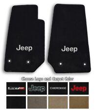 Jeep Cherokee Ultimats Carpet 2pc Front Floor Mat Set - Choose Color & Logo
