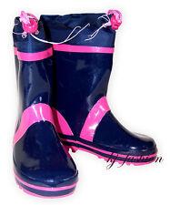 NEU Wintergummistiefel mit Fleecefutter in Blau /Pink von PLAYSHOES  Gr.22/23