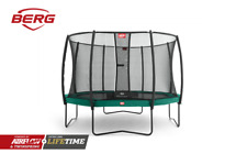 Berg Champion Green 430 14ft Kids Round Trampoline PVC Edge Safety Net Deluxe