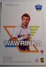 STANISLAS WAWRINKA 5X7 2015 WESTERN & SOUTHERN ATP TENNIS TOURNAMENT CARD