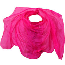 1pc handmade bellydance veil natural silk dance veil pure rose colors dance prop