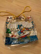 VTG 80's Disney Donald Duck Drawstring Clear Bag Tote Bathing Beach Bag Plastic
