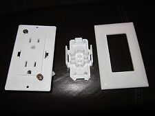 Quick Connect Outlet White With Finish Plate New Old Stock Camper Trailer RV
