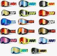 100% ACCURI Goggles -ALL COLORS- Offroad MX Motocross - MIRROR LENS